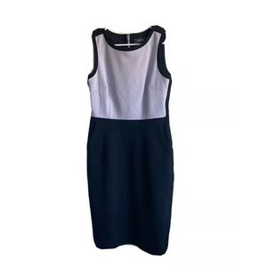 Lands End Size 6 Tall Ponte Sheath Dress Work Wear